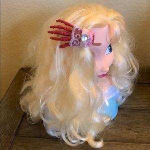 Pink Hair Clip Skeleton Hand Halloween Accessory